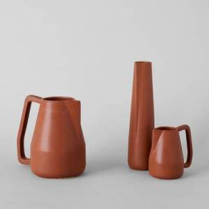 Bloomist Brown Novah Pitcher in Brown/Black/Gold, Large