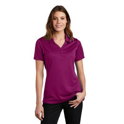 Sport-Tek LST680 Women's PosiCharge Micro-Mesh Polo Shirt in Pink Rush size XS   Polyester
