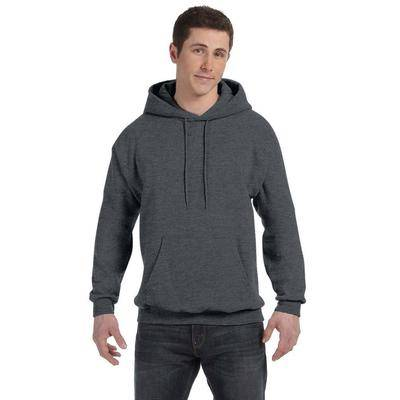 Hanes P170 7.8 oz. Ecosmart 50/50 Pullover Hooded Sweatshirt in Charcoal Heather size 2XL   Cotton Polyester