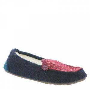 Acorn Andover Driver Moc - Womens L Navy Slipper Medium
