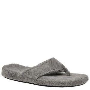Acorn New Spa Thong - Womens L Grey Slipper Medium