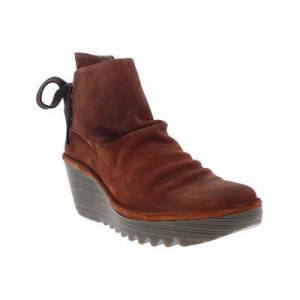 FLY London Women's Casual boots 047 - Brick Yama Suede Boot - Women