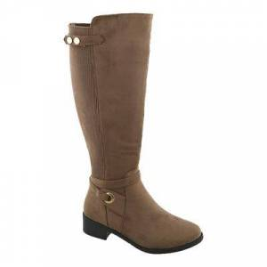 TOP MODA Women's Casual boots Taupe - Taupe Metallic-Accent Kendall Stretch-Back Boot - Women