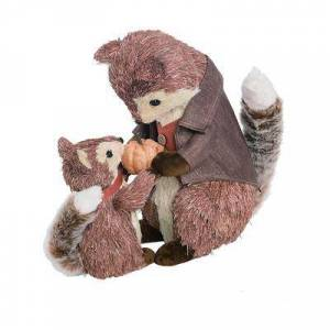 Transpac Decorative Figurines - Brown Fox & Friend Figurine