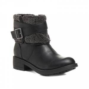 Rocket Dog Women's Casual boots BLACK - Black Trepp Grand Buckle-Accent Boot - Women