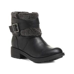 Rocket Dog Women's Casual boots BLACK - Black Trepp Grand Buckle-Accent Boot - Women
