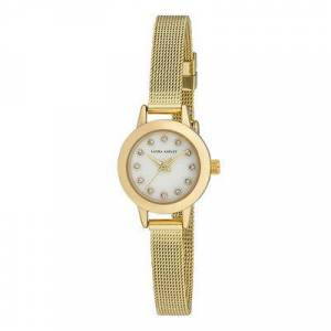 Laura Ashley Women's Watches - Goldtone Mother-of-Pearl Dial Mini Case Watch