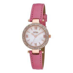 Bob Mackie Watches - Pink & Mother-Of-Pearl Rhinestone Glitz Watch