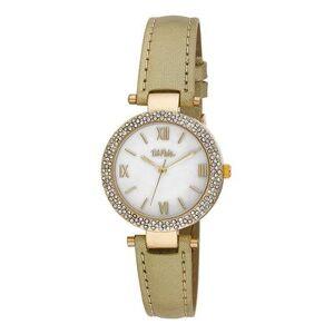 Bob Mackie Watches - Mother-Of-Pearl & Goldtone Rhinestone Glitz Watch