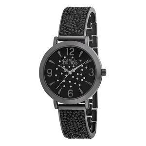 Bob Mackie Watches - Black Rhinestone Glitz Watch