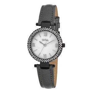 Bob Mackie Watches - Black & Mother-Of-Pearl Rhinestone Glitz Watch