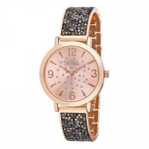 Bob Mackie Watches - Black & Rose Goldtone Rhinestone Glitz Watch