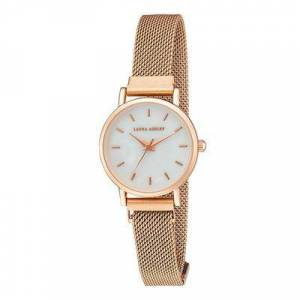 Laura Ashley Women's Watches - Rose Goldtone Matte Mother-of-Pearl Mesh Magnet Watch