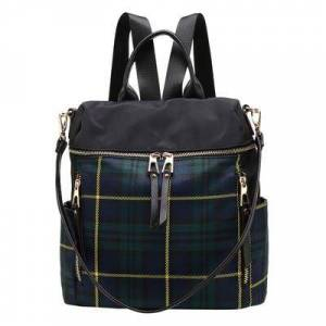MKF Collection by Mia K. Women's Backpacks Green - Green Plaid Nishi Backpack