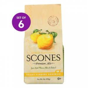 STICKY FINGERS Dried Mixes - Lemon Poppyseed Scone Mix - Set of Six