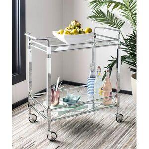 Safavieh Bar Cart CHROME - Chrome Ingrid Two-Tier Bar Cart