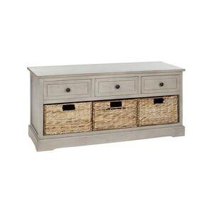 Safavieh Benches VINTAGE - Gray Abby Three-Drawer Storage Unit