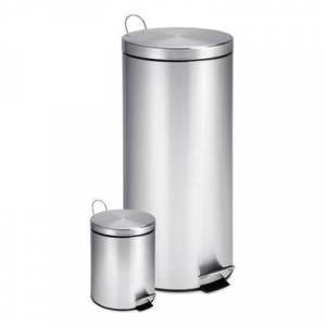 Honey-Can-Do Trash Cans stainless - Stainless Steel Step Trash Can - Set of Two