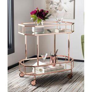 Safavieh Bar Cart ROSE - Rose Gold Silva Two-Tier Octagon Bar Cart