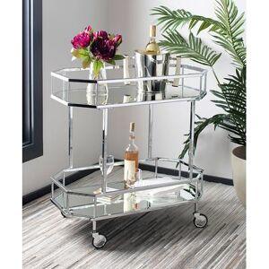 Safavieh Bar Cart SILVER/MIRROR - Silver Silva Two-Tier Octagon Bar Cart