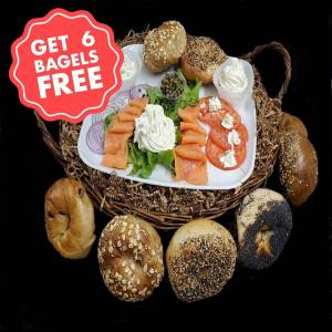 Ess-a-Bagel - The Lox Box Special - BUY 1 GET 6 Bagels + T-Shirt FREE