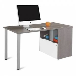 """NBF Signature Series Boardwalk Compact Desk with One File Drawer 60""""W"""