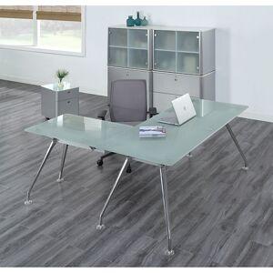 NBF Signature Series Brilliant Executive Glass L Desk Suite