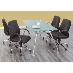 "NBF Signature Series Brilliant Rectangular Shape Glass Table 71""Wx35""D"