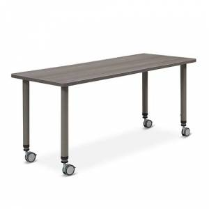 "NBF Signature Series Valuemax Mobile AdjustableHeight Table 59""W x 24""D"