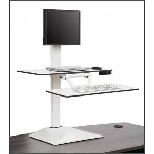 NBF Signature Series Altier Electric Single Monitor Sit/Stand Riser with Memory