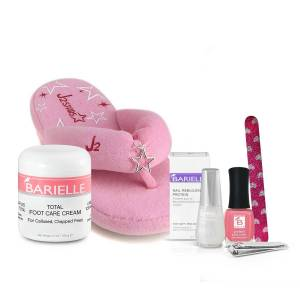 Barielle Happy Healthy Feet Collection (6-PC SET) w/ Plush Pink Flip-Flops