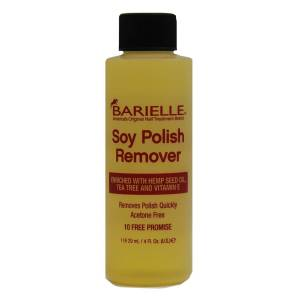 Barielle Acetone Free Soy Nail Polish Remover with Hemp Seed Oil 4 oz.