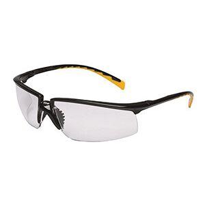 Black 3M Privo Safety Eyewear - Clear, Anti-Fog (14/Pack) - R3-12261-00000-20