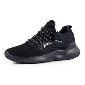 Men's Four Seasons Lace-up Breathbale Mesh Sports Shoes Black - Size: 9.5