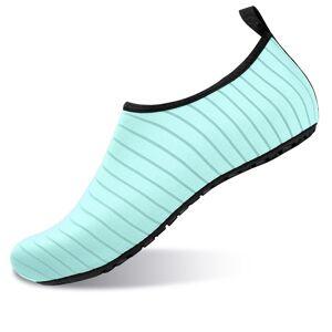 Men/Women Summer Soft Lightweight Polyester Beach Shoes Green - Size: 10.5