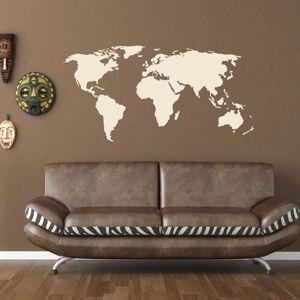 Style and Apply World Map World Vinyl Wall Art (94 inches x 46 inches - Gold), Style and Apply