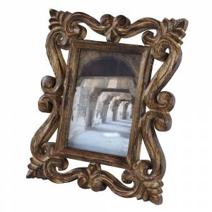 Studio 350 Set of 2 Rectangular Hand-carved Dark Brown Wood Antique Picture Frame (9 x 1 x 11 - Brown), Studio 350