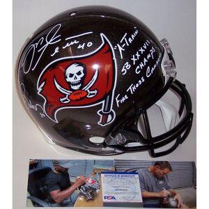 Mike Alstott and Ronde Barber Autographed Hand Tampa Bay Bucs Buccaneers Authentic Full Size Helmet - Black - 5' x 8' (Black - 5' x 8')