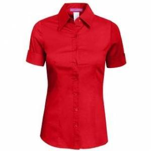 Overstock petite NE PEOPLE Womens Tailored SHORT Sleeve Button Down Shirt (Red - S - Dry Clean), Women's
