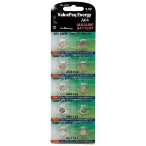 Panasonic Dantona ValuePak Energy AG4 Silver Oxide Button Cell Batteries, 10 pk