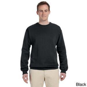 Fruit of the Loom Men's Supercotton 70/30 Fleece Crew Sweatshirt (Black - 3XL)
