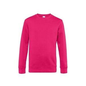 B&C Mens King Crew Neck Sweater (Magenta Pink - L), Men's, Pink Pink(cotton)