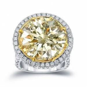Auriya 22 1/ 2ct TW Certified Yellow Diamond Halo Engagement Ring (Size: 6), Women's, L-M