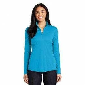 United One Country United Ladies Competitor 1/4 Zip-Pullover (3X (22W - 24W) - Atomic Blue), Women's(polyester)