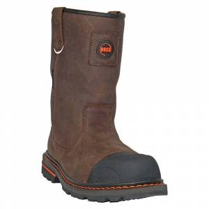 Overstock Hoss Boots Mens Cartwright Ii Buffalo Pull On Casual Work & Safety Sh (6E - 10.5), Men's, Brown
