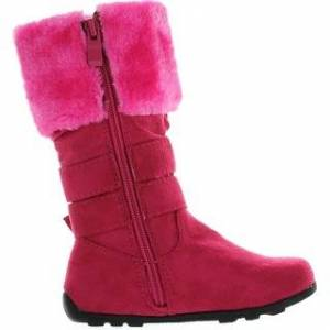 Overstock New Girls Slouch Comf Tall Midcalf Suede Winter Boots Shoes (H.Pink C01 - 6 M US TODDLER), Toddler Girl's