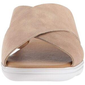 Lucky Brand Womens Mahlay Fabric Peep Toe Casual Slide Sandals (Travertine - 5), Women's, Brown