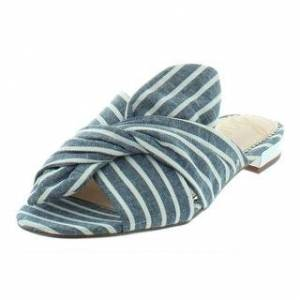 Sam Edelman Womens Darian Slide Sandals Bow (Blue/White Stripe - 6.5 Medium (B,M)), Women's