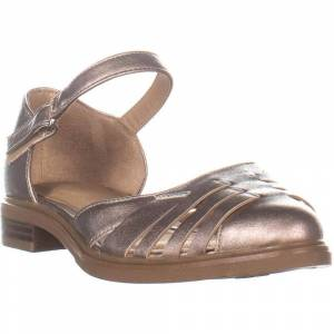 Naturalizer Womens Bethany Pointed Toe Casual Ankle Strap Sandals (Nickel - 7), Women's(Faux Leather)