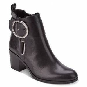DKNY Womens Telo Ankle Boot W Leather Round Toe Ankle Fashion Boots (Black - 7.5), Women's